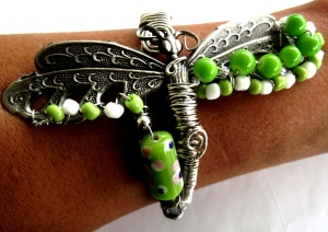 Club Creative Studio- Cuff Bracelet: Dragonfly Dreams