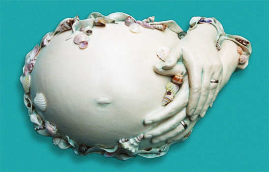 There ... & plaster belly cast | Club Creative Studio