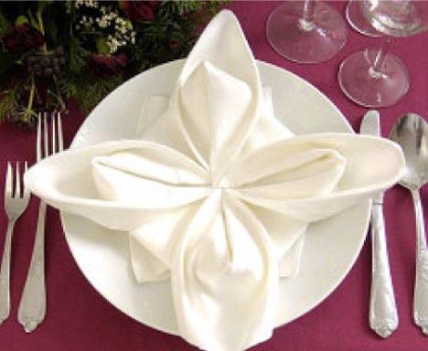 Folded fabric facelift part 1 club creative studio - Unique ways to fold napkins ...