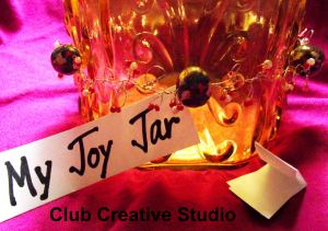 "Enjoy creating your ""joy Jar""  with your own mark of creativity."