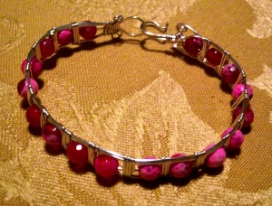 Club Creative Studio hand-made wire bracelet.